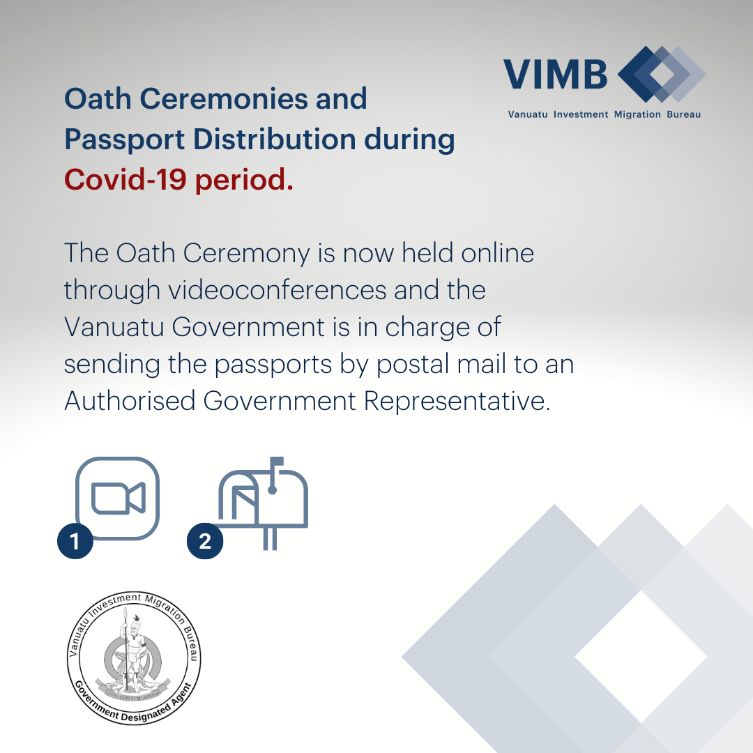 You are currently viewing Oath Ceremonies and Vanuatu Passports Distribution during Covid19 period