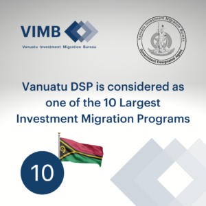 Read more about the article Vanuatu DSP is considered as one of the 10 Largest Investment Migration Programs by the number of its approved applications.
