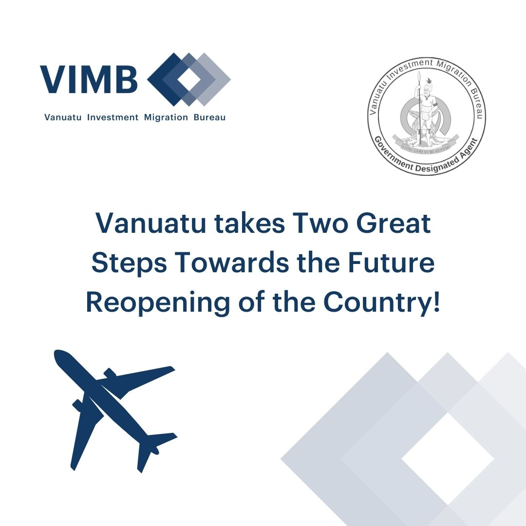 Read more about the article Vanuatu takes two great steps towards the future reopening of Vanuatu to International   Travel